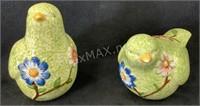 (2) Decorative Porcelain Doves