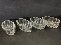 (4) Crystal Dishes
