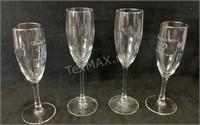 Lot of (4) Wine Glasses