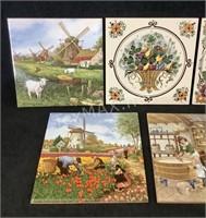 (7) Decorative Handpainted Tiles