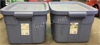 (2) 14 Gallon Rubbermaid Storage Totes