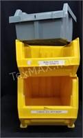 (3) Garage Storage Bins