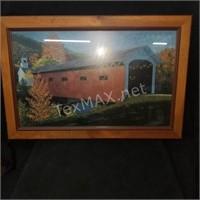 34x23in Framed Print of Bridge