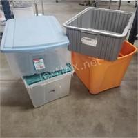 (4) Storage Bins