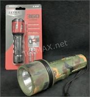 (1) Rayovac and (1) Dorcy Flashlights