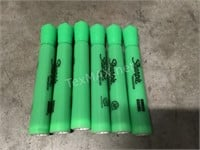 (6) Green Highlighters