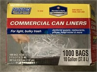 1000 Commercial Can Liners 10 Gallon