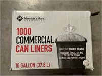 Partial Box of Commercial Can Liners 10 Gal