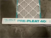 (2) Pre-Pleat 40LPD Filters 16x20x2