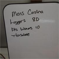 Mens Carolina Loggers 8 D/Womens 10