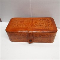 Stamped Leather Jewelry Box