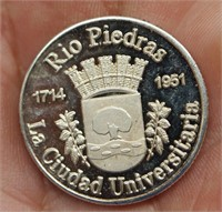 Silver Proof Puerto Rico Quarter Dollar/Numbered