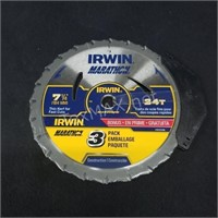 Irwin (3) Pack 7 1/4in Blade