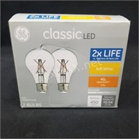 (2) 40w LED bulbs
