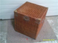 Wicker Chest With Metal Hasps - 20 x 22