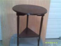 Unique Triangular Corner Table - 25 H X 20 Dia