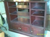 Solid Wooden Unit - 4 end shelves / 3 Bottom doors