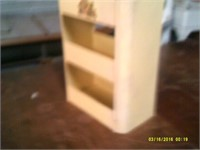 Yellow Tin Container With Handle - 3 Shelves