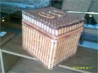 Wicker Picnic Basket - 13 x 11 x 11