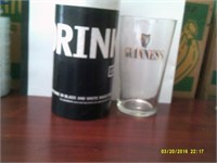 """DRINK ME"" Guiness Glass & Container"