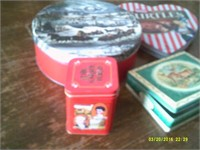 5 Various Collectable Tin Containers