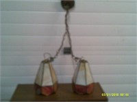 Dual Hanging Stained Glass Lights