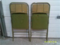 2 Folding Card Table Chairs