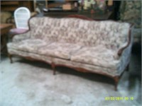 Upholstered French Provincial Couch