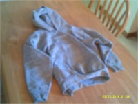 New Grey Fruit Of The Loom Hoodie - Size 10 / 12