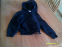 New Navy Fruit Of The Loom Hoodie - Size 14/16