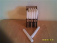24 Plain White Taper Candles - Unscented