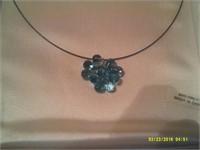 Natural Blue Topaz Necklace