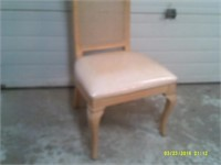 """42"""" High Back Thomasville Caned Chair"""