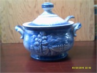 Delft Blue Soup Tureen with Cover & Ladle