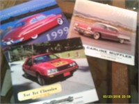 3 Collectable Car Calanders - 1999 and 2001
