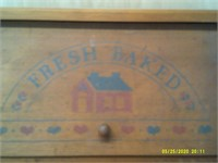 Vintage Wooden Bread Box - Made In Canada