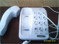 Large Number Wall Or Flat Mount Telephone