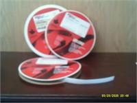 2 Rolls 18 mm White Hook Velcro