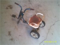 """Vintage Childs Tricycle with seat - 10""""high"""