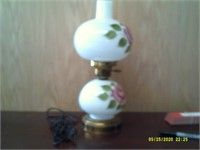 "Decorative Painted Lamp - 15"" Tall"