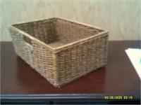 Solid wicker / Rope Basket On Metal Frame