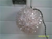 Decorative Hanging White Flashing Light Ball