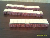Set Of Rubber Alphabet & Number Stamps - 3/8