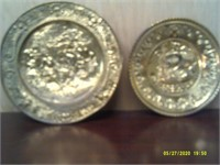 2 Decorative Metal Wall Chargers