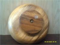 """Revolving Wooden Nut Bowl - 10"""" Diameter"""