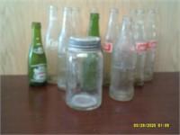 12 Vintage Pop Bottles
