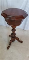 Stunning Vintage Inlaid English Sewing Stand