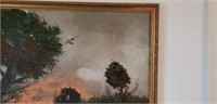 Awesome Apicini Vintage Oil on Canvas Countryside