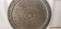 Huge Silverplate on Copper Carved Tray