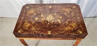 Stunning French Inlaid Side Table